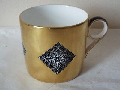 Minton Fine Bone China Athena Coppers Collection COFFEE CAN White On Black RARE