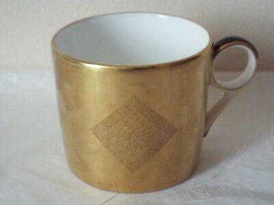 Minton Fine Bone China Athena Coppers Collection COFFEE CAN Acid All Gold RARE