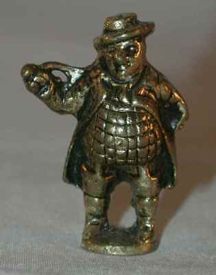 Antique Peerage England Solid Brass Figural Pipe Tamper Dickens' Mr. Pickwick