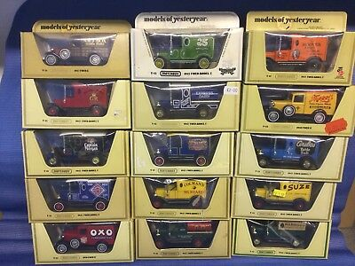 Matchbox Models Of yesteryear.15 Ford Vans..job lot/collection in Straw boxes