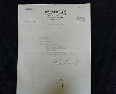 Warner Brothers Picture Letters to Music Publishers The National Music Co.