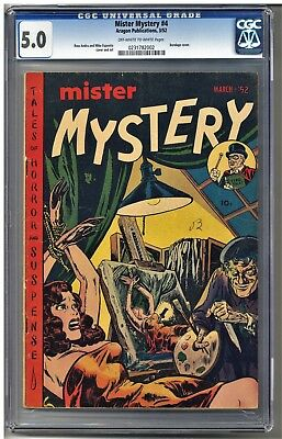 Mister Mystery #4 CGC 5.0 #0231782002 (Pre-Code Horror. Bondage Cover) OW-W.