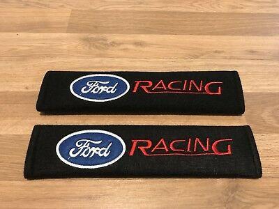 2X Seat Belt Pads Gift Ford Focus Mondeo Fiesta Kuga ST RS C S Race Sport Racing