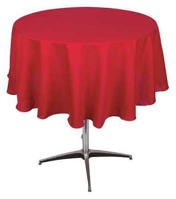 Phoenix Pl72r-Rd Tablecloth,Round,72 In.,Red