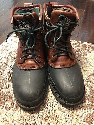 Georgia Boot,Mud Dog Men's Work Boots,Steel Toes,USA Size 9M, Brn, Free Shipping