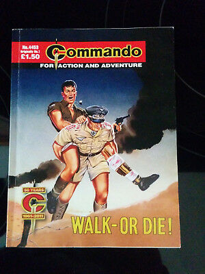 "Commando comic #4453 ""Walk - Or Die!"" a reprint of the very first one"