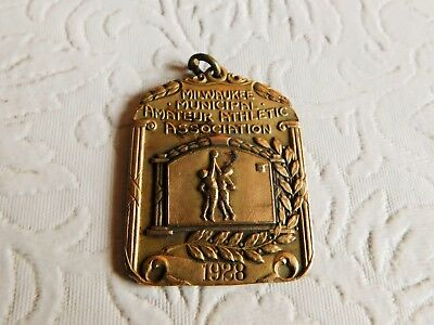 Awesome! 1928 Vintage Basketball Winners Medal - Harvester Works Milwaukee