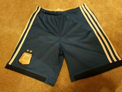 Boys Adidas Argentina Football Shorts Age 11-12 Years