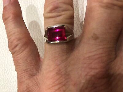 VINTAGE RUBY RINGS: White Gold 10k marked DECO , Yellow gold 10k marked DECO