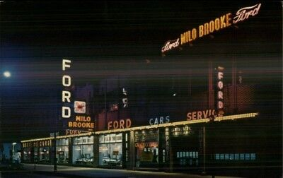 Chicago IL Milo Brooke Ford Car Dealership c1960s Postcard