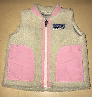 Patagonia Winter Vest Size 6 Month Baby Girl