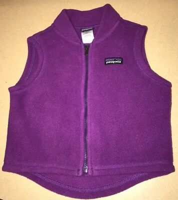 Patagonia Plum Color Vest For A Baby Girl Size 6 months