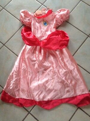 Princess Peach Super Mario Brothers Halloween Costume Size Medium