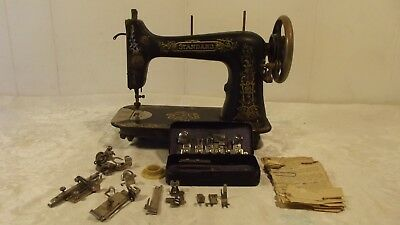Antique STANDARD Rotary Sewing Machine with Accessories