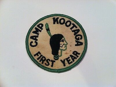 Boy Scout Camp Kootaga First Year Camper Twill Patch