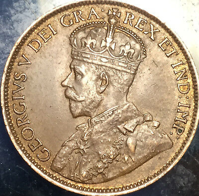 1914 CANADA LARGE 1 CENT PENNY - Better date in best of circulated condition !