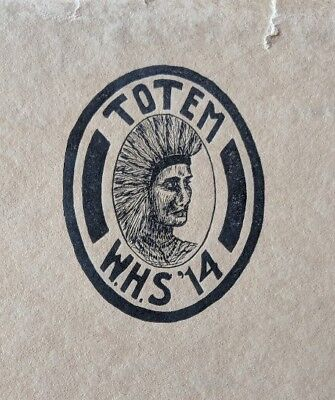1914 High School Year Book Totem Winamac H.S. Antique vintage local city Indiana