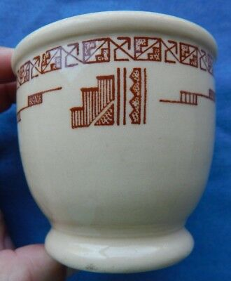 Vintage WALLACE CHINA Aztec Pattern DESERT WARE Double Egg Cup Restaurant