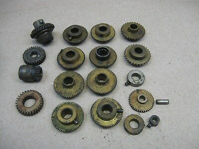 Vtg Lot Victor Victrola Phonograph Parts Spindle Gears & Edison? Columbia?