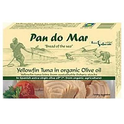 PAN DO MAR Yellowfin Tuna in Organic Olive Oil 120g