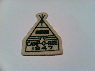 Boy Scout 1947 National Issue Felt Camporee Teepee Patch
