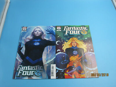 FANTASTIC FOUR (2018) #1 VF/NM ARTGERM INVISIBLE WOMAN & BARTEL variant Marvel