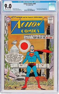 Action Comics #300  Cgc Vf/nm 9.0 - Captive Of The Red Sun! - Supergirl - 1963