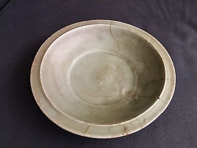 Rare Chinese Longquan Celadon Pottery Dish Circa Song Dynasty