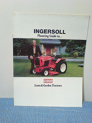 Case, Ingersoll Tractor, Lawn & Garden Equipment Sales Brochure 1984  F-1