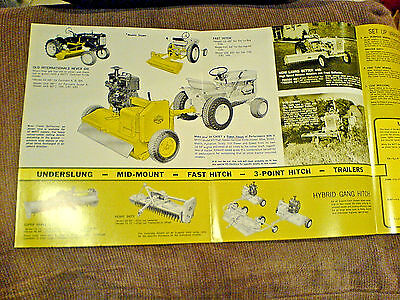 International Harvester Cub Low-Boy  Cub Cadet Mott Mower Brochures New 582/6/99