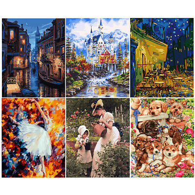 Couple Women DIY Paint By Number Kit Digital Oil Painting Canvas No framed Decor