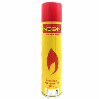 NEON UNIVERSAL BUTANE GAS LIGHTER REFILL TORCH FUEL BBQ JET BLOW CAMPING  300ml