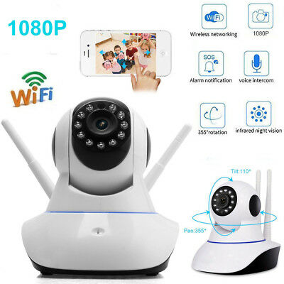 Wireless 1080P Wifi Security IP Camera Audio CCTV Home Pet Baby Monitor Webcam