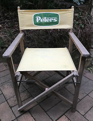 Rare Peters Ice Cream Directors Deck Chair