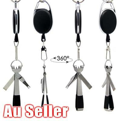 AU 4 in1 Knot Fly Tool Fishing Clippers Quick Line Nippers Cutter Snip Retractor