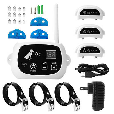 🔥Wireless Electric Dog Pet Fence Containment System Transmitter Collar IP US