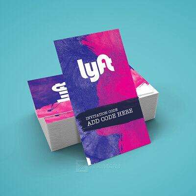 250 Lyft Business Cards - Full Color Double Side Pro Design and Free Shipping!
