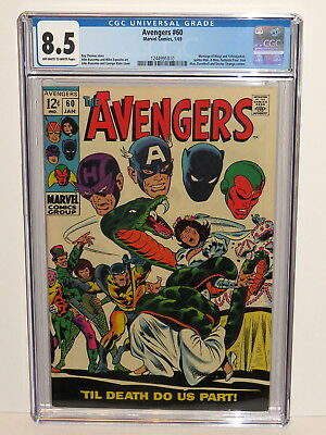 Avengers #60 Marrige Wasp & Yellowjacket Off-White To White Pages 1/69 Cgc 8.5