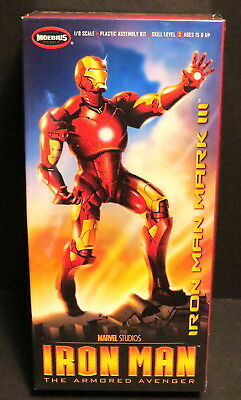 Iron Man Mark Iii Armor Model Kit 1:8 Scale Sl 3 Moebius Kit #930 2012 - Sealed