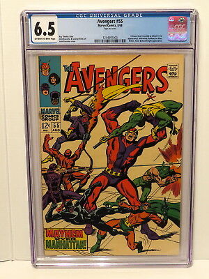 Avengers #55 Crimson Cowel Revealed As Ultron - 5 ( 1St App ) 8/68 Cgc 6.5