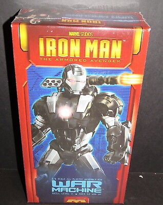 Iron Man War Machine Armor Model Kit 1:8 Scale Sl 3 Moebius Kit #932 2012 Sealed