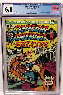 Captain America #175 X-Men & Moonstone Appearance 7/74 Off-White Pages Cgc 6.0