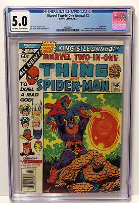Marvel Two-In-One Annual #2 Spider-Man Thanos Avengers Warlock App 1977 Cgc 5.0