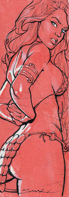 2011 RED SONJA sketch card PUZZLE by LOUIS SMALL!  OFFICIAL SET/RELEASE