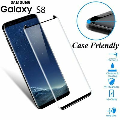 Case Friendly Tempered Glass Screen Protector Full Cover For Samsung Galaxy S8 F