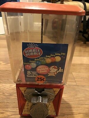 A&A  Toy Capsules, Candy, Gumball, M & M, Bulk Vending Machine with Key, 25 Cent