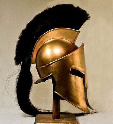 Movie Spartan King-Leonidas+Medieval Roman Helmet Greek Liner Reenactment xopy