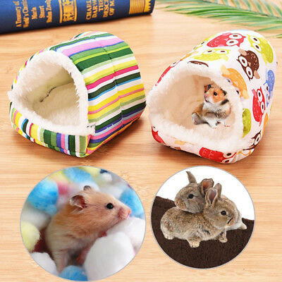 Mini Hamster Pad Bed Nest Plush Soft Guinea Pigs House Small Animals Cage