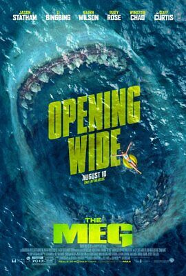 THE MEG great original 27x40 D/S movie poster (s001)