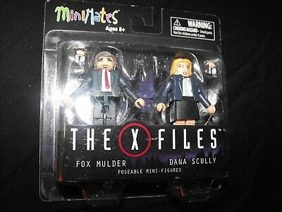 X-FILES FOX MULDER and DANA SCULLY 2 MINIMATES FIGURES NEW SEALED